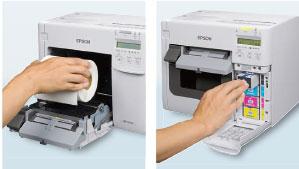 用紙やインクの交換作業が容易