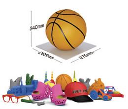 バスケットボールサイズの造形可能