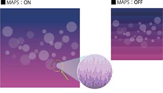 バンディングを軽減するMAPS4