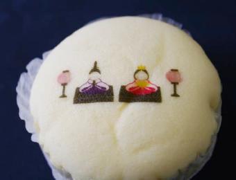 蒸しケーキへ印刷