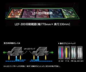LEF-300の印刷範囲としくみ
