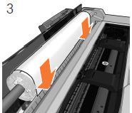プリンタが用紙を検知するまで、用紙の先端をプリ ンタに挿入します。