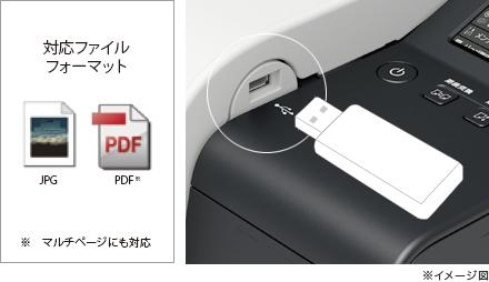 USBメモリーからのダイレクト印刷